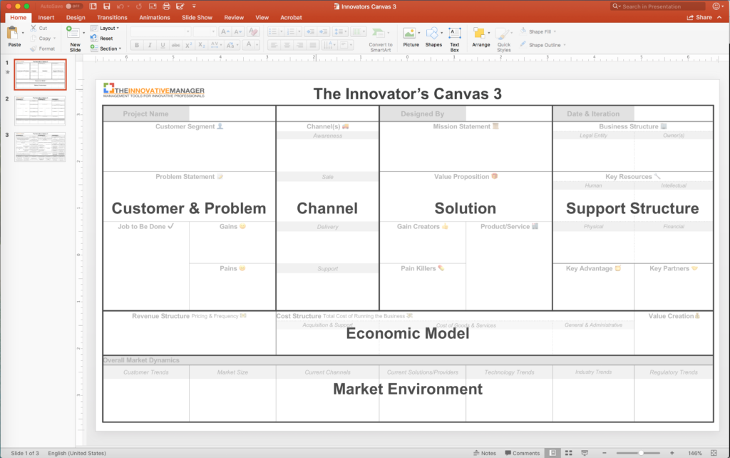 Innovators Canvas 3 Powerpoint